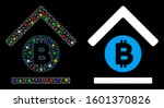 flare mesh bitcoin bank roof... | Shutterstock .eps vector #1601370826