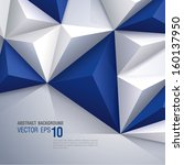 Blue And White Vector Geometri...