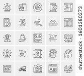set of 25 universal business... | Shutterstock .eps vector #1601380273