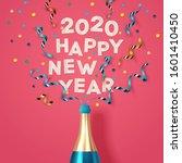 new year background  banner ... | Shutterstock .eps vector #1601410450