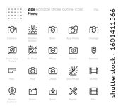 photo camera outline vector... | Shutterstock .eps vector #1601411566