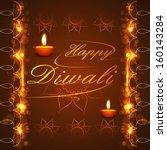 happy diwali background... | Shutterstock .eps vector #160143284