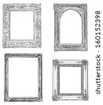vintage drawn frames | Shutterstock . vector #160152398