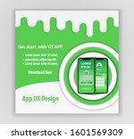mobile app ux design vector... | Shutterstock .eps vector #1601569309