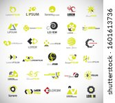 abstract element icon set.... | Shutterstock .eps vector #1601613736