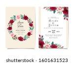 wedding invitation card... | Shutterstock .eps vector #1601631523