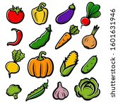 collection of vegetables set.... | Shutterstock .eps vector #1601631946