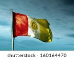 san diego  usa  flag waving on... | Shutterstock . vector #160164470