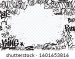 graffiti tags border isolated... | Shutterstock .eps vector #1601653816