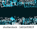 graffiti tags border isolated... | Shutterstock .eps vector #1601653819