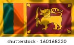 sri lanka flag blowing in the... | Shutterstock . vector #160168220