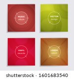 abstract plate music album... | Shutterstock .eps vector #1601683540