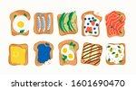 tasty breakfast. healthy food... | Shutterstock .eps vector #1601690470