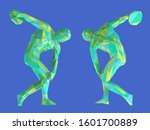 colorful ancient greek athlete. ... | Shutterstock .eps vector #1601700889