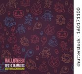 halloween seamless background.... | Shutterstock .eps vector #160171100