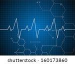 abstract heart beats cardiogram ... | Shutterstock .eps vector #160173860