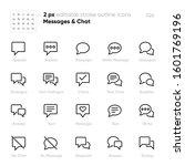 dialogue bubbles outline vector ... | Shutterstock .eps vector #1601769196