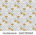 animals print. vector cute... | Shutterstock .eps vector #1601785069