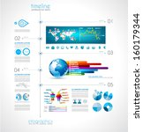 timeline to display your data... | Shutterstock . vector #160179344