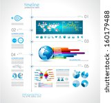 timeline infographic with a lot ... | Shutterstock .eps vector #160179488