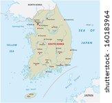 south korea map   Shutterstock .eps vector #160183964
