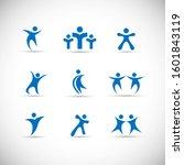 abstract people logo set. human ...   Shutterstock .eps vector #1601843119