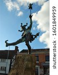 Jester Statue Located On Henle...