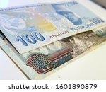 one hundred egyptian pound vs... | Shutterstock . vector #1601890879
