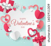 valentine's day background with ... | Shutterstock .eps vector #1601911309