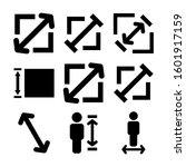 size icon isolated sign symbol...