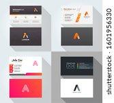 a letter logo professional... | Shutterstock .eps vector #1601956330
