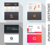 q letter logo professional... | Shutterstock .eps vector #1601956360