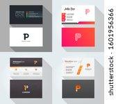 p letter logo professional... | Shutterstock .eps vector #1601956366
