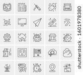 set of 25 universal business... | Shutterstock .eps vector #1601978380