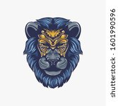 lion head artwork decorative... | Shutterstock .eps vector #1601990596
