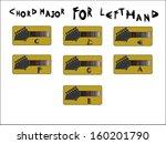 guitar chord for left hand | Shutterstock .eps vector #160201790