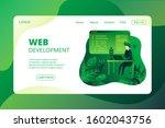 programming landing page flat... | Shutterstock .eps vector #1602043756