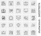 set of 25 universal business... | Shutterstock .eps vector #1602078376
