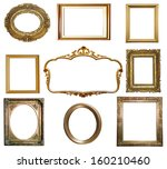 antique golden frame isolated... | Shutterstock . vector #160210460