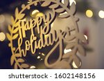happy holidays ornament with...   Shutterstock . vector #1602148156