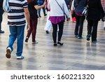 crowd of people walking in the... | Shutterstock . vector #160221320