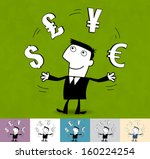 finances  currency. business... | Shutterstock .eps vector #160224254