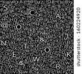 alphabet background | Shutterstock . vector #160224920
