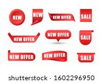 collection of colorful sales... | Shutterstock .eps vector #1602296950