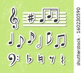 Music Notes Vector Icons