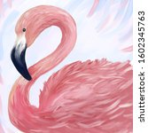 Digital Drawing Pink Flamingo...