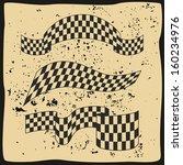 vector grunge race flags | Shutterstock .eps vector #160234976