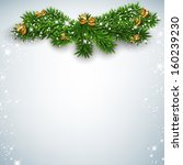 christmas background with fir... | Shutterstock .eps vector #160239230