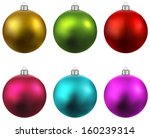 Colorful Christmas Balls. Set...