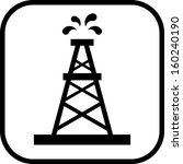 oil rig vector icon  | Shutterstock .eps vector #160240190